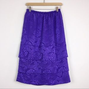 Vintage purple midi skirt shiny glam abstract dots